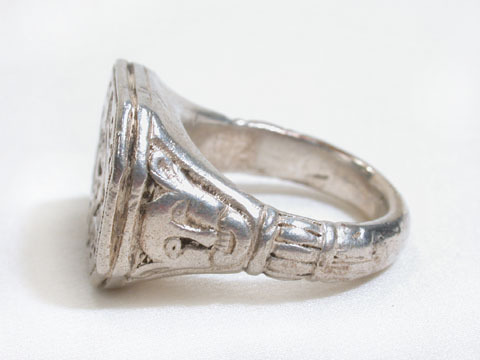 Massive Silver Merchant Ring
