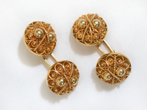Victorian Gold Wirework Cufflinks