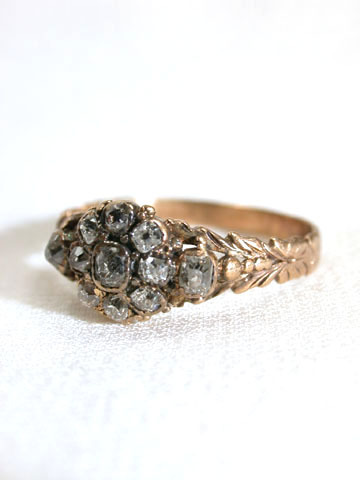 Inspired Georgian Diamond Cluster Ring