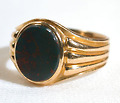 Bloodstone Victorian Gentleman's Ring