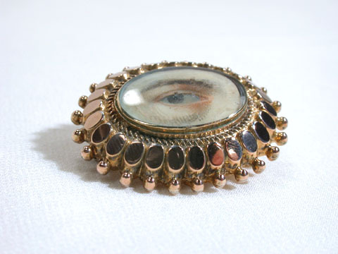 Antique Lover's Eye Brooch