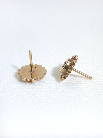 Classic Gold & Diamond Stud Earrings