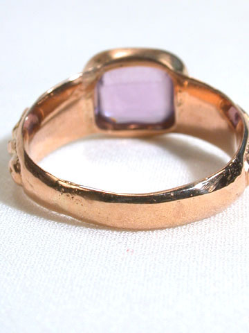 George IV Amethyst Gold Ring