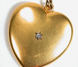 Edwardian Large Diamond Heart Locket