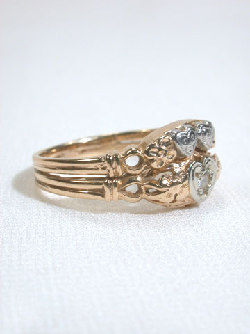 Hearts & Flowers in an Engagement Wedding Ring