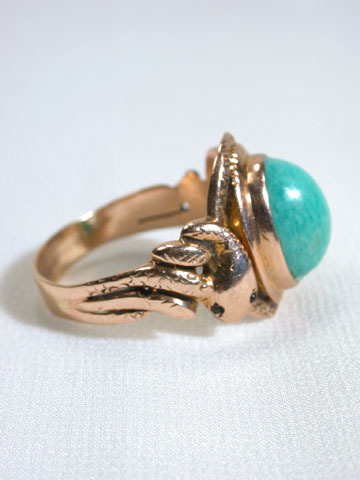 Double Mystery - Amazonite Antique Snake Ring