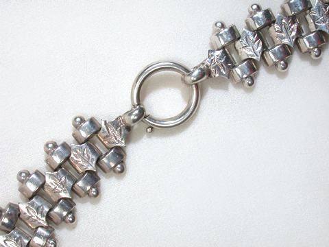 Antique Victorian Silver Bookchain Necklace