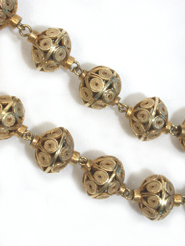 Moorish Allusions - Italian Filigree 18k  Beads