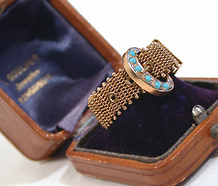 Antique Turquoise Buckle Ring