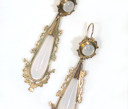 Day Night Georgian Chalcedony Earrings
