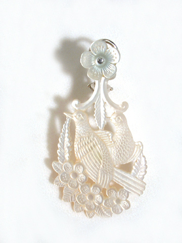 Love Birds - Mother of Pearl Earrings