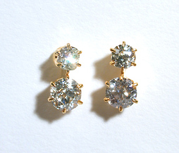 Prismatic Colors: Deco Diamond Earrings