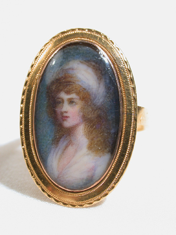Woman in the Round: Miniature Portrait Ring