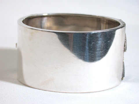 Antique Sterling Silver Bangle