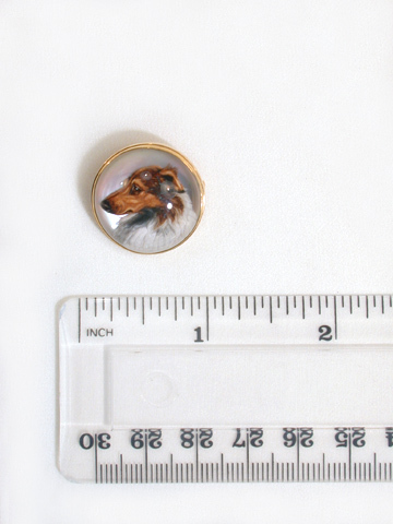 Antique Essex Crystal Collie Dog Brooch