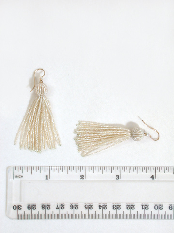 Edwardian Pearl Tassel Earrings
