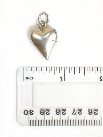 Early Silver Gilt Heart Locket