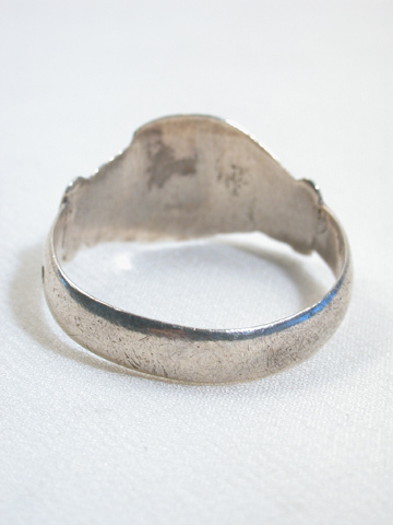 Antique Silver Clasped Hands Ring