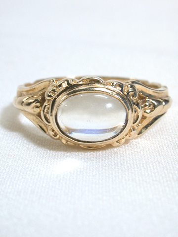 Moonstone Art Nouveau Ring