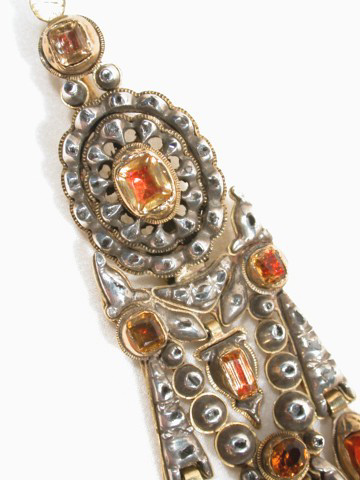 Imposing Spanish Crystal & Diamond Pendant