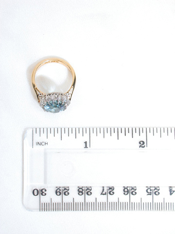 Icy Glamour - Aquamarine Diamond Cluster Ring