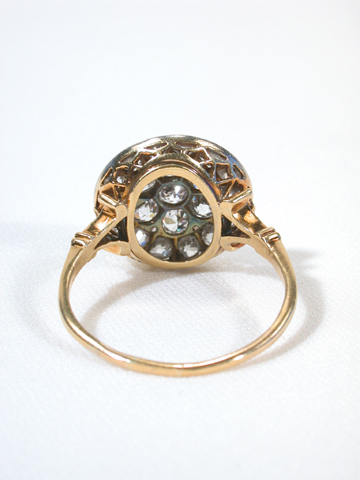 Elegant Victorian Diamond Cluster Ring