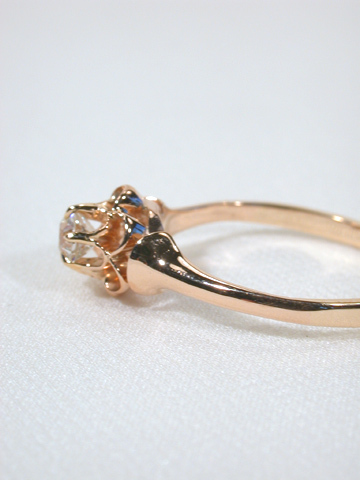 Petals of Gold: Victorian Diamond Ring