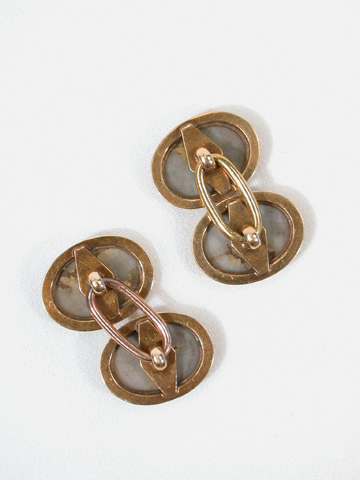 Antique Gold in Quartz Cufflinks