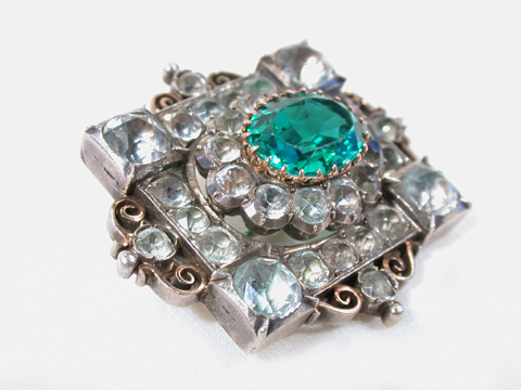 Antique Victorian Paste Brooch