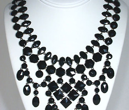 Splendid French Jet Bib Necklace
