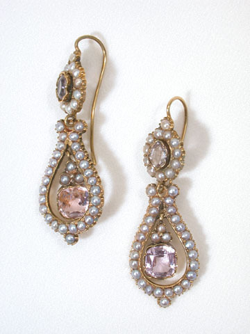 Music For the Ears: Antique Pearl Lyre Earrings