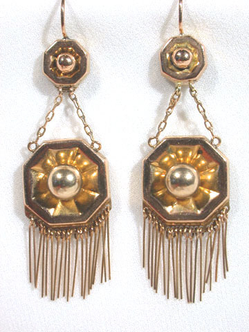 On the Fringe: Antique Gold Earrings c. 1850