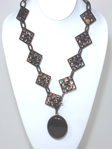 Fantastic Tortoise Shell Locket Chain