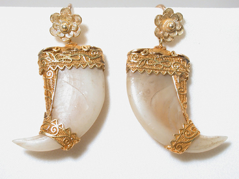 British Raj: Tiger Claw Earrings