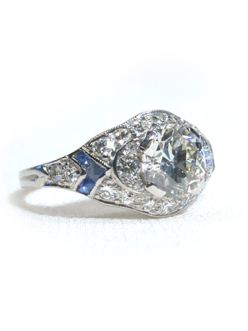 Arrows of Time - Diamond Sapphire Ring