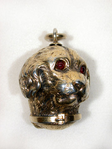 Signed, Austrian Dog Locket Pendant