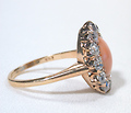 Sea & Fire - Coral Diamond Ring