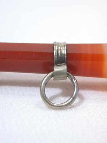 Victorian Banded Agate & Silver Seal Fob