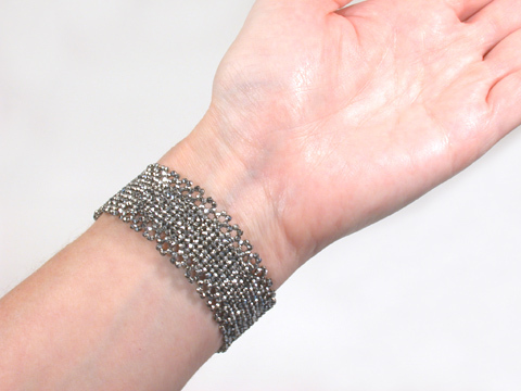 Victorian Antique Cut Steel Bracelet