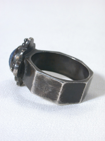 Ancient Byzantine Silver & Roman Glass Ring