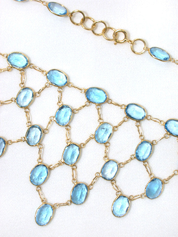 Shimmering Lights - Edwardian Zircon Necklace