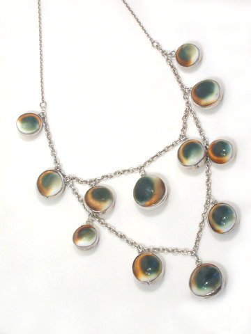 Victorian Charm: Operculum Shell Necklace