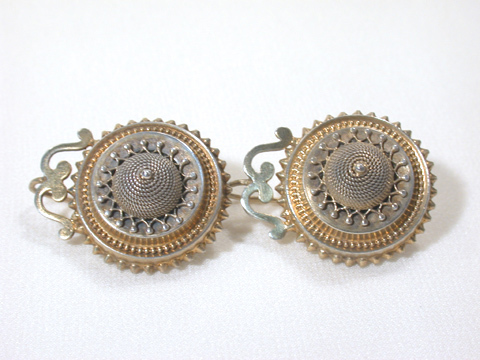 Silver Gilt Victorian Earrings