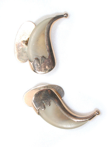 Exotica on the Cuff: Antique Tiger Claw Cufflinks