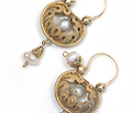 Georgian Natural Pearl & Filigree Earrings