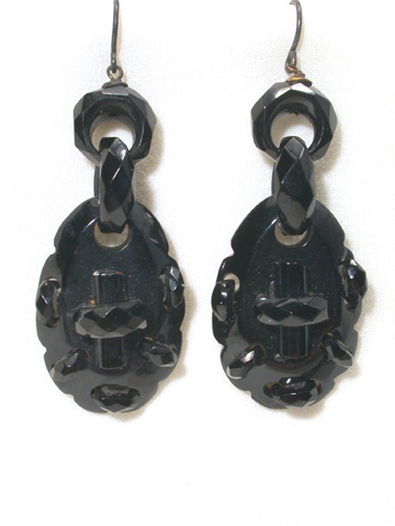Faceted Chic  - Whitby Jet Earrings