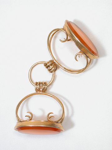 Twice the Pleasure: Twin Carnelian Antique Fobs