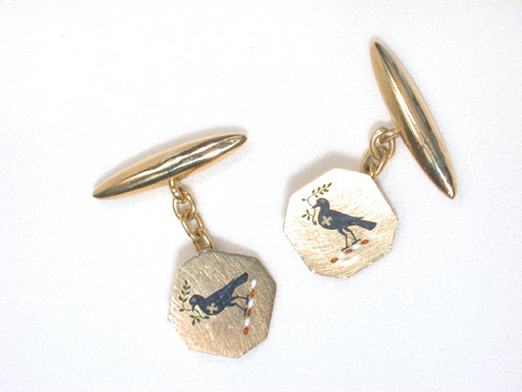 Forever Watchful: Antique Enamel Cufflinks