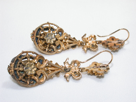 Austro Hungarian Empire Gilt Earrings