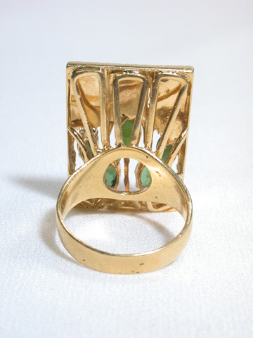 Tourmaline Modernist Ring